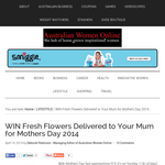Win Fresh Flowers Delivered to Your Mum for Mothers Day 2014