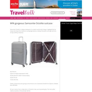 Win gorgeous Samsonite Octolite suitcase