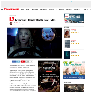 Win Happy Death Day DVDs