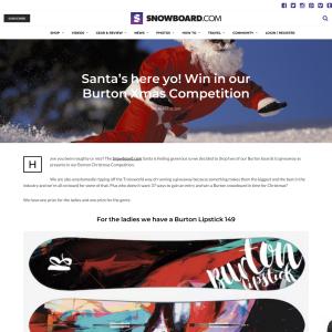 Win in Snowboard.com Burton Xmas Giveaway