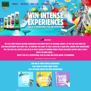 Win INTENSE experiences + MORE! (Purchase Required)