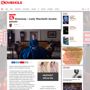 Win Lady Macbeth double passes