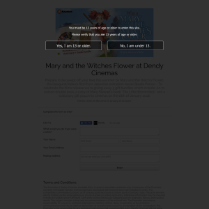 Win Mary and the Witches Flower prize pack