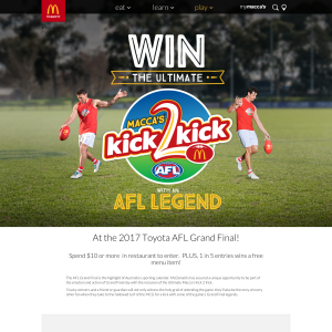 Win Mcdonalds Ultimate Kick2kick prize packs