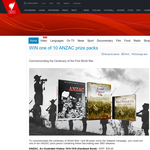 Win one of 10 ANZAC prize packs