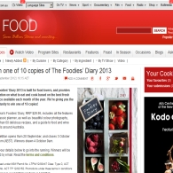 Win one of 10 copies of The Foodies' Diary 2013
