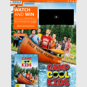 Win one of five copies of Camp Cool Kids on dvd