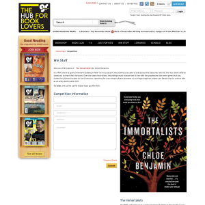 Win One Of Five Copies Of The Immortalists By Chloe Benjamin