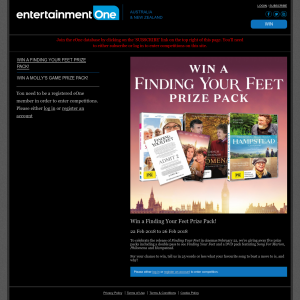 Win one of five Finding Your Feet packs