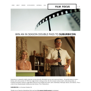 Win one of five Suburbicon double passes