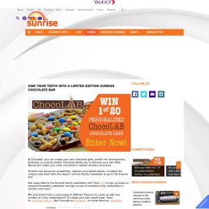 Win one of twenty personalised Choclab chocolate bars