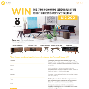 Win Oopenspace Designer Furniture Collection