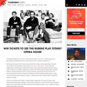 Win Rubens' tickets for Sydney show
