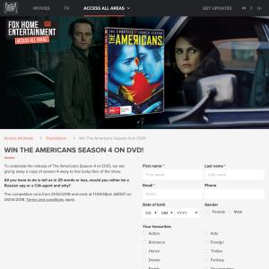 Win The Americans Season 4 on DVD