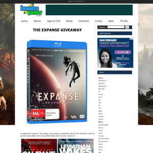 Win The Expanse on Blu-ray plus the books Caliban's War and Leviathan Wakes