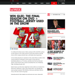 Win the final season of Glee on DVD + the football jersey used in the show!