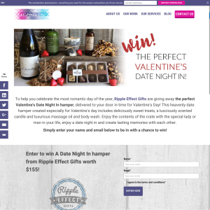 Ripple Effect Gifts - Win the perfect Valentine's 'Date