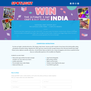 Win the ultimate 5-day craft & DIY tour of India! (Purchase Required)