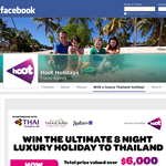 Win the ultimate 8 night luxury holiday to Thailand!