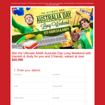 Win the ultimate Australia Day long weekend with Hamish & Andy!