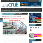 Win the ultimate Australian cruise & rail holiday for 2!