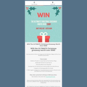 Win the ultimate Christmas giveaway worth over $500!