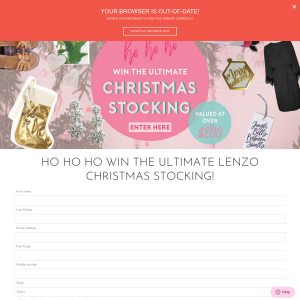 Win the ultimate Christmas stocking