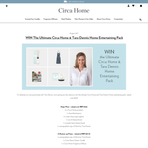 WIN The Ultimate Circa Home & Tara Dennis Home Entertaining Pack