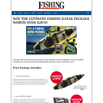 Win the ultimate fishing kayak package worth over $2,870!