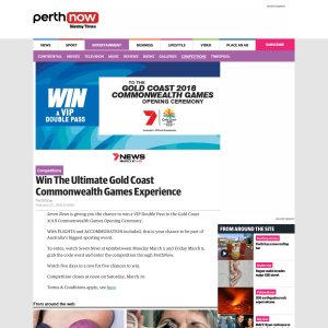 Win The Ultimate Gold Coast Commonwealth Games Experience