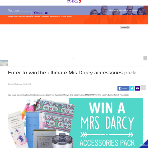 Win the ultimate Mrs Darcy accessories pack