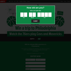 Win the ultimate NBA experience in Philadelphia