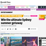 Win the ultimate Sydney summer getaway