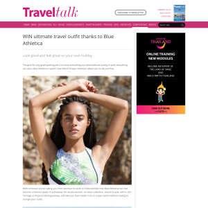 Win the ultimate travel outfit thanks to Blue Athletica!