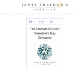 Win the ultimate Valentine's Day experience, including $2,600 worth of design services with James Thredgold!