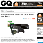 Win the ultimate XBOX One pack, valued at over $1,000!