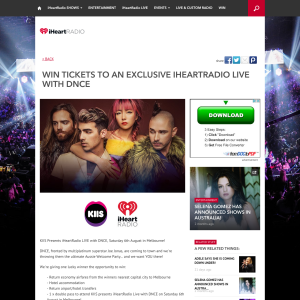 Win tickets to an exclusive iHeartRadio LIVE with DNCE!