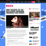Win tickets to an exclusive Meghan Trainor event!