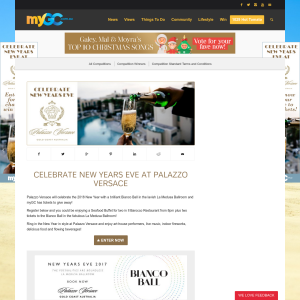 Win Tickets to celebrate New Years Eve at Palazzo Versace
