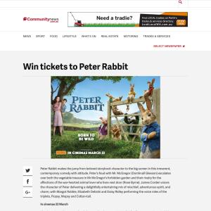 Win tickets to Peter Rabbit