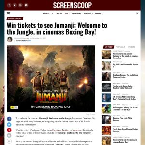 Win tickets to see Jumanji: Welcome to the Jungle, in cinemas Boxing Day