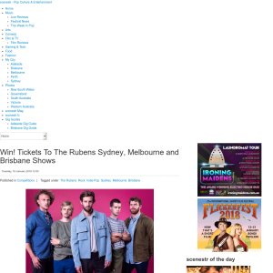 Win tickets to see The Rubens Brisbane, Sydney, Melbourne shows