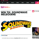Win tickets to Soundwave in Melbourne!