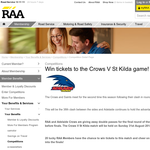 Win tickets to the Crows V St Kilda game
