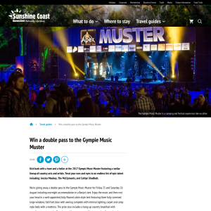 Win tickets to the Gympie Music Muster