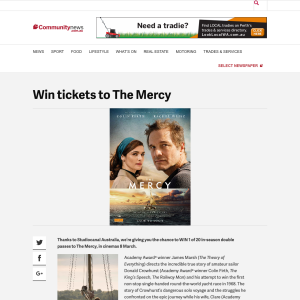 Win tickets to The Mercy