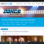 Win tix to So You Think You Can Dance