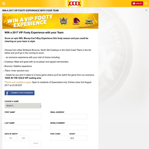 Win VIP NRL Experience with your Team