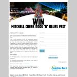 Win VIP tickets to Mitchell Creek Rock 'N' Blues Fest!
