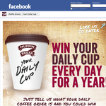 Win your daily cup every day for a year